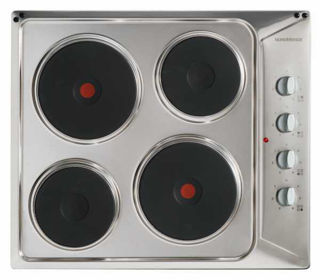 Picture of NordMende 60cm 4 x Zone Solid Plate Electric Hob Stainless Steel