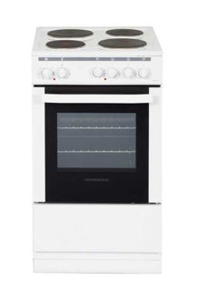 Picture of NordMende F/S 50cm Single Cavity Electric Static Cooker with Solid Plates White