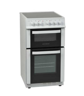 Picture of NordMende F/S 50cm Twin Cavity Electric Fan Cooker with Ceramic Top White