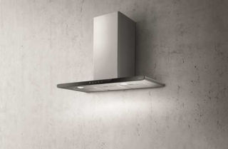 Picture of Elica 80cm Galaxy Chimney Hood Black Glass + Stainless Steel