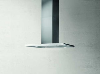 Picture of Elica 90 x 45cm Galaxy Island Hood White Glass + Stainless Steel