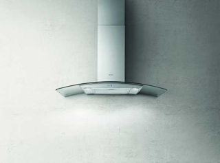 Picture of Elica 90cm Reef Curved Glass Chimney Hood Stainless Steel