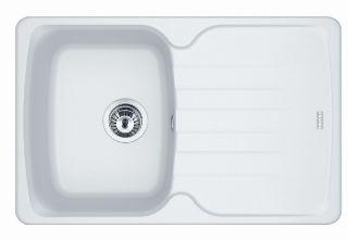 Picture of Franke Antea Single Bowl Inset Sink Reversible Fragranite Polar White