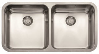 Picture of Franke Largo Double Bowl Undermounted Sink Stainless Steel