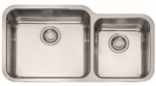 Picture of Franke Largo Double Bowl Undermounted Sink RHSB Stainless Steel