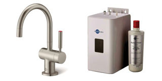 Picture of ISE Hot Tap Only Brushed Steel Kit Tap and Filter
