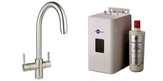 Picture of ISE 3 In 1 J Spout Tap Brushed Steel Kit