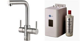Picture of ISE 4 In 1 L Spout Touch Control Tap Brushed Steel Kit