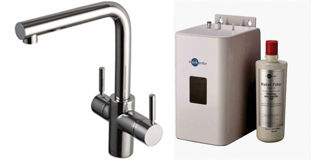 Picture of ISE 3 In 1 L Spout Tap Brushed Steel Kit