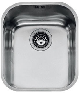 Picture of Franke Base Undermounted Single Bowl Sink 34cm Stainless Steel Boxed with Basket Strainer Waste Overflow Clips & Template