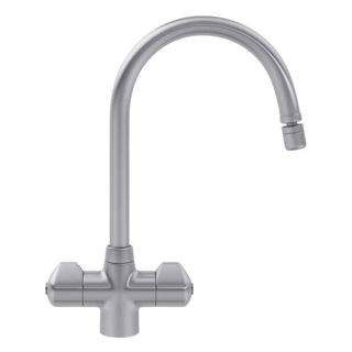 Picture of Franke Moselle Swan Neck Tap Swivel Directional Nozzle SilkSteel