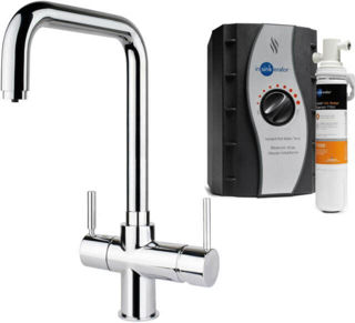 Picture of ISE 3 In 1 Lecce U Spout Tap Chrome Kit Tap and Tank