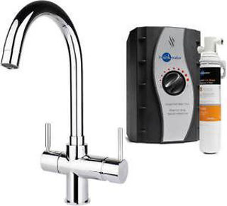 Picture of ISE 3 In 1 Lecce J Spout Tap Chrome Kit Tap and Tank