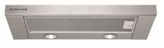 Picture of De Dietrich 60cm Integrated Telescopic Hood Silver 368m3h 3Speeds 70dBa 2Grease Filter 2x20W Halogen Lights Slider Controls