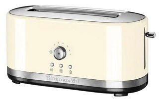 Picture of KitchenAid Manual Control Long 2-Slot Toaster Almond Cream