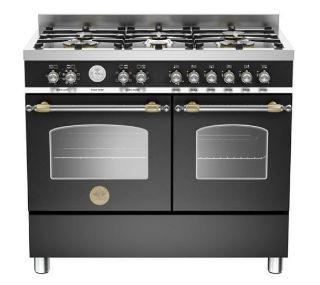 Picture of Bertazzoni F/S 100cm XG Heritage Range Cooker Twin Matt Black