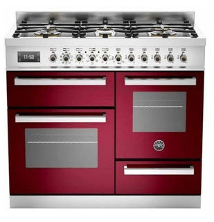 Picture of Bertazzoni F/S 100cm XG Professional Range Cooker Burgundy