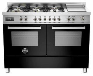 Picture of Bertazzoni F/S 120cm Professional Range Cooker Twin Black