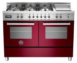 Picture of Bertazzoni F/S 120cm Professional Range Cooker Twin Burgundy