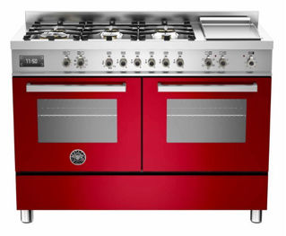 Picture of Bertazzoni F/S 120cm Professional Range Cooker Twin Red