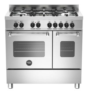 Picture of Bertazzoni F/S 90cm Master Range Cooker Twin Stainless Steel
