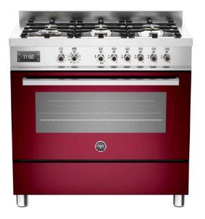 Picture of Bertazzoni F/S 90cm Professional Range Cooker Burgundy