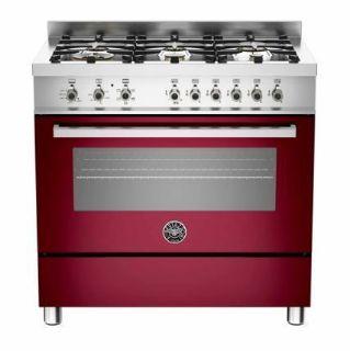 Picture of Bertazzoni F/S 90cm Professional Range Cooker Hybrid Burgundy