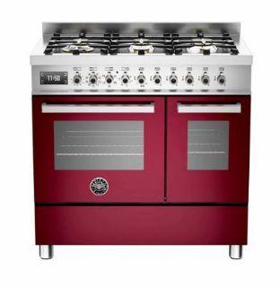 Picture of Bertazzoni F/S 90cm Professional Range Cooker Twin Burgundy