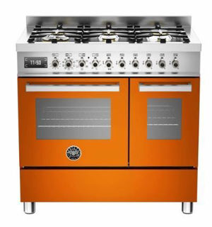 Picture of Bertazzoni F/S 90cm Professional Range Cooker Twin Orange