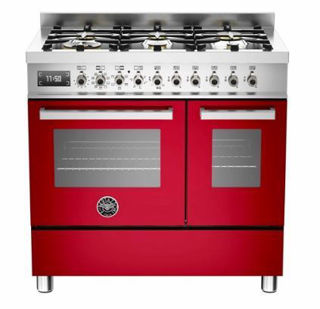 Picture of Bertazzoni F/S 90cm Professional Range Cooker Twin Red
