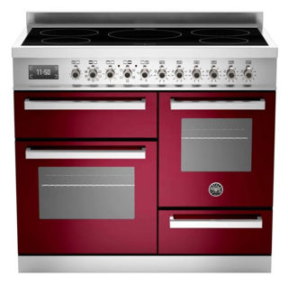 Picture of Bertazzoni F/S 100cm Professional Range Cooker with Induction Burgundy