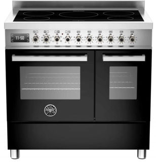 Picture of Bertazzoni F/S 90cm Professional Range Cooker Twin with Induction Black