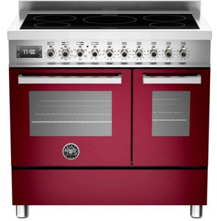 Picture of Bertazzoni F/S 90cm Professional Range Cooker Twin with Induction Burgundy