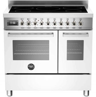 Picture of Bertazzoni F/S 90cm Professional Range Cooker Twin with Induction White