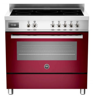 Picture of Bertazzoni F/S 90cm Professional Range Cooker with Induction Burgundy