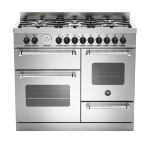 Picture of Bertazzoni F/S 100cm Master Range Cooker Twin Stainless Steel