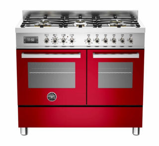 Picture of Bertazzoni F/S 100cm Professional Range Cooker Twin Red