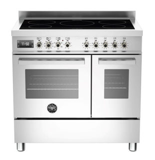 Picture of Bertazzoni F/S 90cm Professional Range Cooker Twin with Induction Stainless Steel