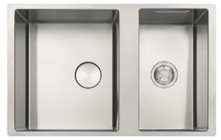 Picture of Franke Box Centre Bowl + Half Undermounted Sink Reversible Stainless Steel