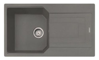 Picture of Franke Urban Single Bowl Inset or Flushmounted Sink Reversible Fragranite Orion Grey
