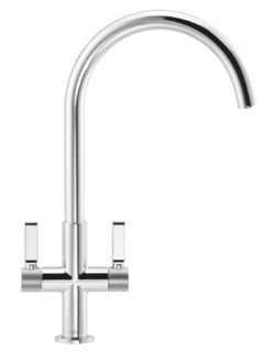 Picture of Franke Textura J-Spout Tap with Textured Shouder Detail Chrome