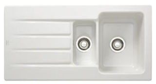 Picture of Franke Aracana 1.5 Bowl Inset Sink Reversible White Ceramic Pack