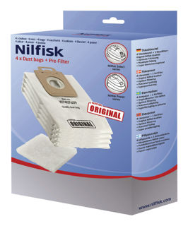 Picture of Nilfisk SELECT 4 x Dust Bags + Pre Filter