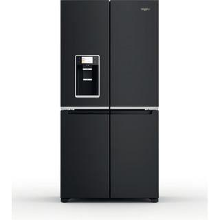 Picture of Whirlpool F/S 90cm 4 Door Frost Free Fridge Freezer with Water and Ice + Dispenser Black Steel