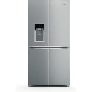 Picture of Whirlpool F/S 90cm 4 Door Frost Free Fridge Freezer with Water and Ice + Dispenser Stainless Steel