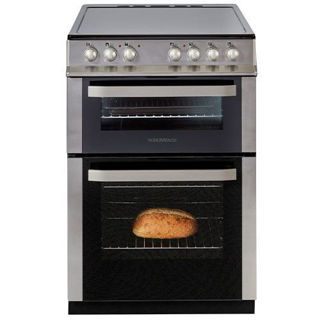 Picture of NordMende F/S 60cm Double Cavity Electric Fan Cooker Stainless Steel with Ceramic Top Stainless Steel