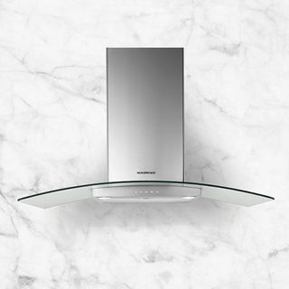 Picture of NordMende 90cm Curved Glass Chimney Hood Stainless Steel