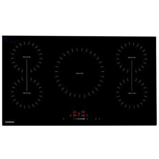 Picture of NordMende 90cm 5 x Zone Touch Control Induction Hob 2 x Bridge Zone Black