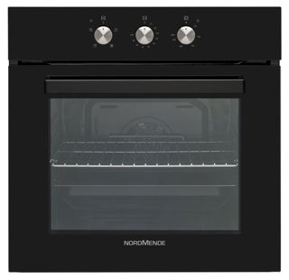 Picture of NordMende B/I 65L Black Glass Single Fan Oven & Grill & Timer