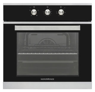 Picture of NordMende B/I 65L S/Steel & Black Glass Single Fan Oven & Grill & Timer